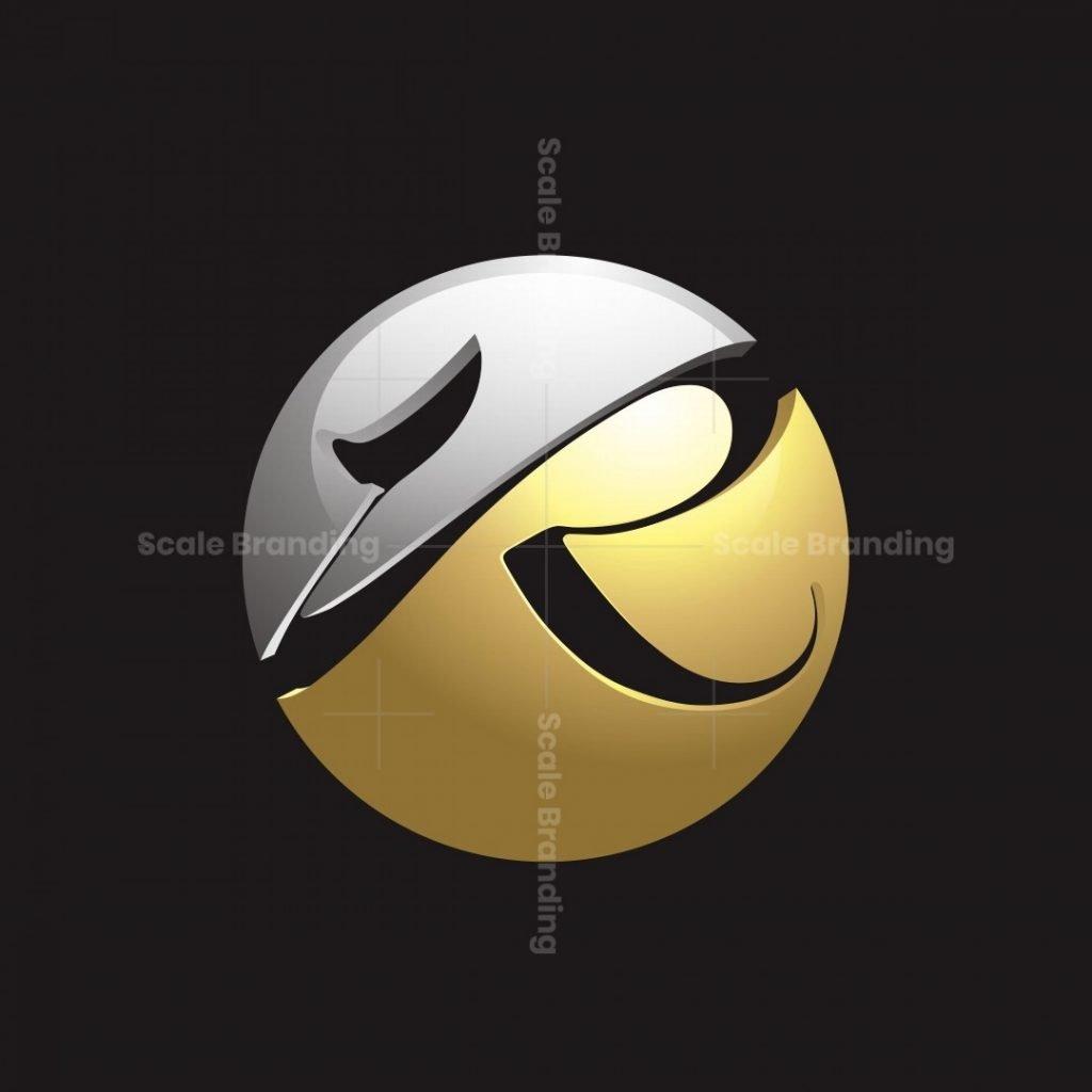 R Letter 3d Circle Logo