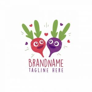 Radish And Beet Love Logo