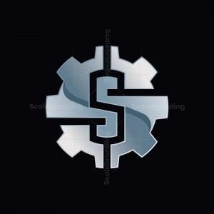 S Gear Letter Logo