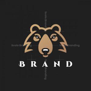 Simple Bear Head Logo