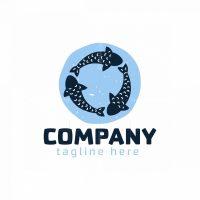 Three Fish Circle Logo