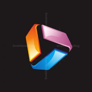 Triangle Abstract 3d Logo