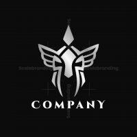 Winged Spartan Warrior Logo