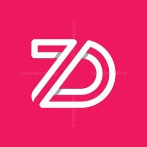 Monogram Letter Zd Logo