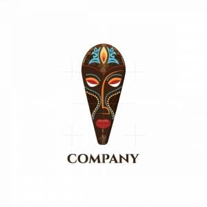 African Mask Pictorial Logo