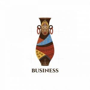 African Vase Pictorial Logo