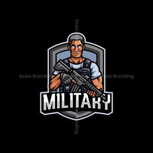 Army Military Mascot Logo