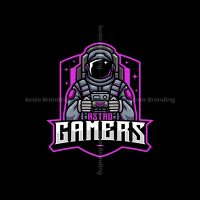 Astronaut Gamer Mascot Logo