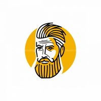 Bearded Man Icon Logo