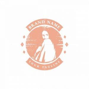 Beauty Retro Girl Logo