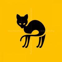 Black Cat Icon Logo