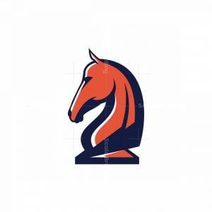 Chess Knight Icon Logo