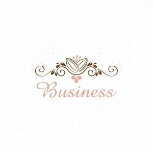 Classic Cocoa Bakery Floral Logo
