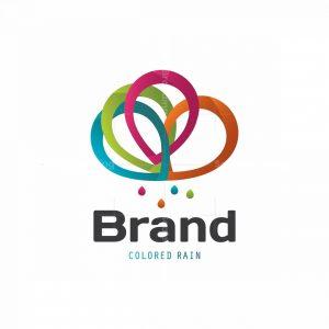 Color Rain Symbol Logo