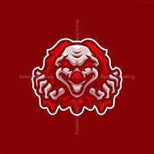 Crazy Clown Gaming Mascot Logo Design