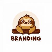 Cute Sloth Logo