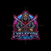 Cyberpunk Oni Mascot Logo