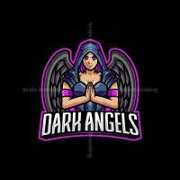Dark Angel Mascot Logo