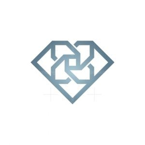 Diamond Flower Logo