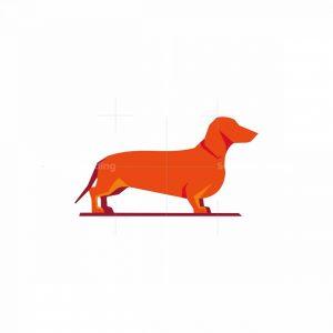 Geometric Dachshund Icon Logo