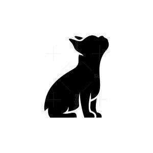 French Bulldog Icon Logo