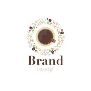 Florist Cafe Floral Logo