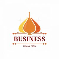 Garlic And Curry Indian Food Symbol Logo