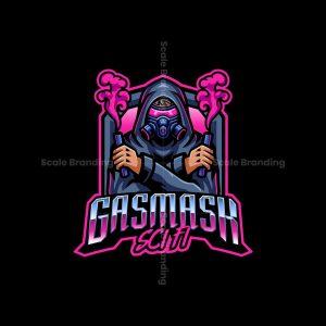 Gas Mask Mascot Logo