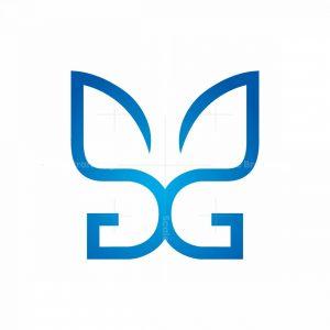 Letter G Butterfly Logo