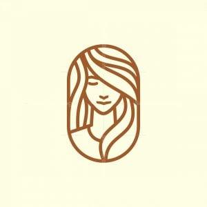 Elegant Monoline Girl Logo