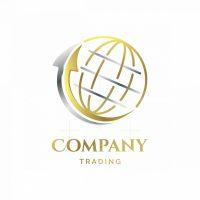 Global Trading Arrows Symbol Logo