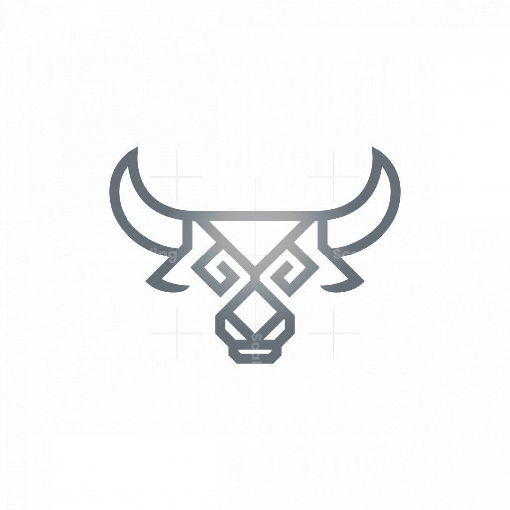 Glyph Bull Logo Taurus Logo