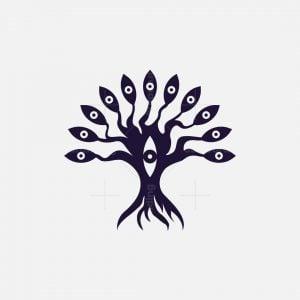 Tree And Eyes Logo