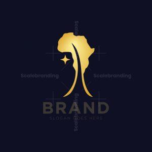 African Map Tree Logo