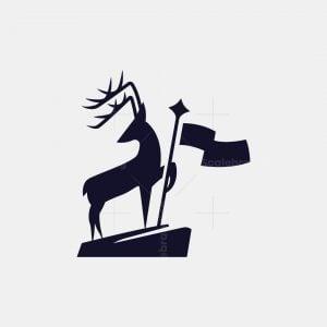 Deer And Flag Logo