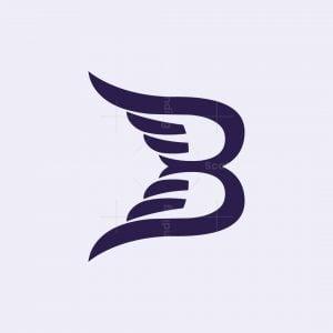 Letter B Wings Logo
