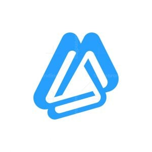 Letter A Triangles Logo