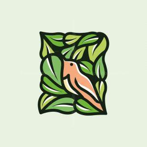 Hummingbird Leaves Logo