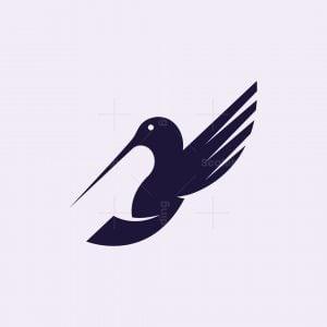 Minimalist Hummingbird Logo