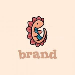 Cute Baby Dragon Logo