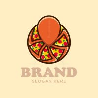Octopus And Pizza Logo