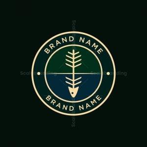 Tree And Fish Badge Logo