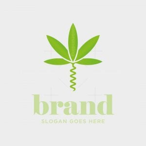 Cannabis Corkscrew Logo