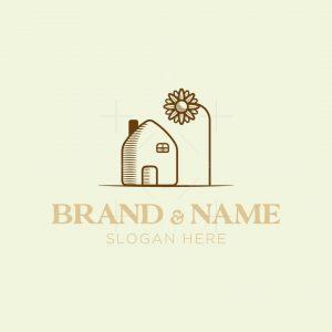 House Sunflower Logo