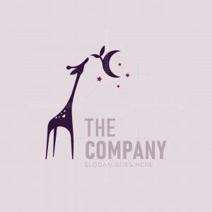 Giraffe And Moon Logo