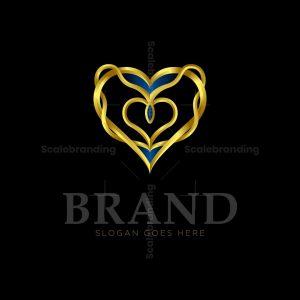 Luxury Heart Ornamental Logo