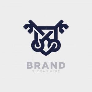 Shield And Keys Logo