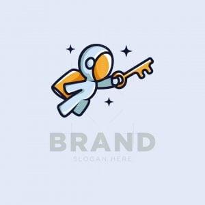 Astronaut And Key Logo