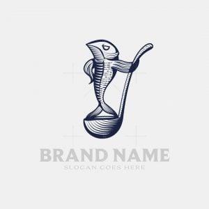 Vintage Fish Logo