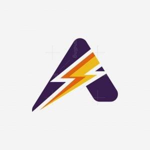 Letter A Lightning Logo